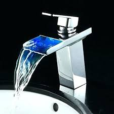bathroom faucet with led light bathroom faucet with led light single handle waterfall bathroom sink