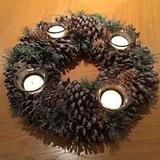 pine cone tea light holder gisela graham natural fir cone ring 4 tea light candle holder duck