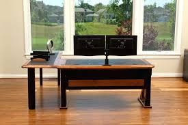Simple Corner Desk Plans Desk Dual Monitor Computer Desk Plans Simple Dual Monitor