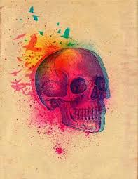colorful skull design best designs