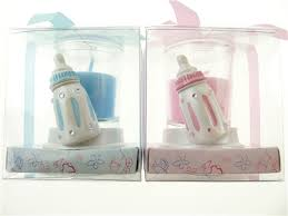 candle baby shower favors baby shower party favor boy or girl candle votive bottle