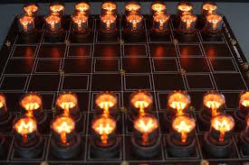 this nixie tube chess set is too gorgeous