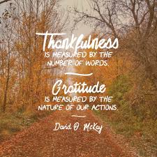 christian thanksgiving thankfulness is measured by the number of our words gratitude is