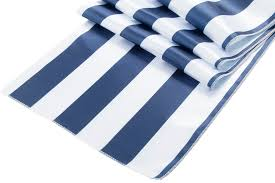 Navy Blue Table Runner Stripe Satin Table Runner Navy Blue U0026 White Cv Linens