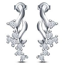 new design buy vorra fashion new design fancy earrings platinum plated 925