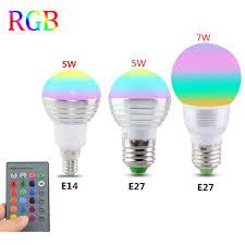 Changing Color Light Bulbs Aliexpress Com Buy E27 E14 Led 16 Color Changing Rgb Magic Light