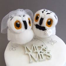 owl cake toppers and groom snowy owl wedding cake topper