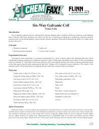 91667 six way galvanic cell