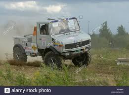 mercedes unimog truck mercedes unimog race truck speeding at the rallye dresden breslau