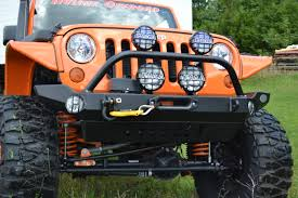 jeep winch bumper jeep jk mid width front recessed winch bumper hyline offroad
