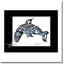 8x10 haida killer whale tlingit orca art printpacific