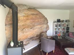 My Livingroom by My Living Room Was Built Around A Huge Sandstone Rock