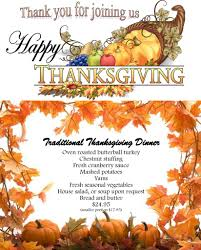 thanksgiving menu edelweiss german restaurant