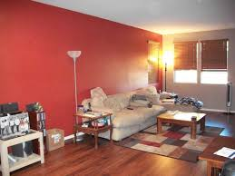 Simple Home Decoration Captivating Red Accent Wall Living Room Simple Home Decoration