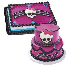 monster high party supplies edible skullette cake kit party