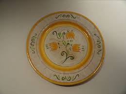 stangl pottery terra stangl pottery terra 12 chop plate yellow tulip 24 99
