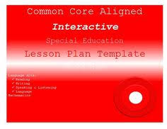 common core aligned special education interactive lesson plan