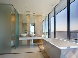 Bathroom Design With Floortoceiling Windows Using Frameless - Glass bathroom