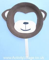 Paper Plate Monkey Craft - plate monkey mask