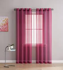 Burgundy Curtains For Living Room Amazon Com Grommet Semi Sheer Curtains 2 Pieces Total Size