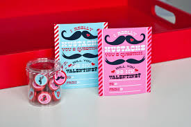 mustache valentines day party printables and cards