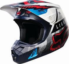 top motocross helmets fox racing new 2016 mx v2 vicious blue white red mtb motocross