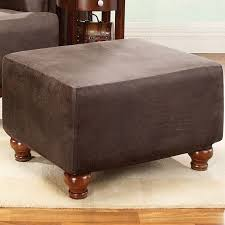 Slipcover For Chair And Ottoman Sure Fit Stretch Leather Ottoman Slipcover U0026 Reviews Wayfair