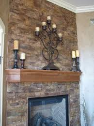 air stone over brick fireplace home design ideas