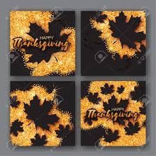 4 autumn greetings card with happy thanksgiving day title origami