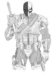 deathstroke coloring pages super heroes printable at eson me