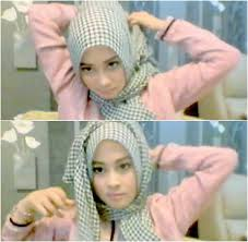 tutorial hijab noura tutorial hijab hanya 1 menit ala personil noura nina septiani