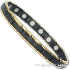 black bracelet with gold images Thin jet black gold edges magnetic bracelet jpg