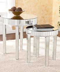 mirrored end table set look at this zulilyfind mirrored round nesting table set