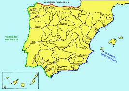 Espana Map Map Ríos De España Mapa