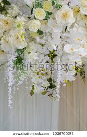wedding backdrop background wedding flower backdrop background flower decoration stock photo