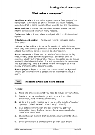 news paper writing ks3 media texts teachit english 1 preview ks3 writing download making a local newspaper