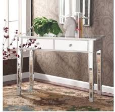 bedroom console table mirrored console table glam vanity mirror silver accent decor