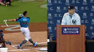 Aaron Judge Made His Mlb Debut In Center Field - aaron judge or giancarlo stanton may play left mlb com