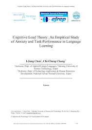 cognitive load theory an empirical study of anxiety and task