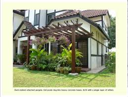 Attaching Pergola To House by Attached Pergola Designs Youtube