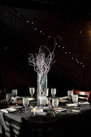 curly willow centerpieces and black wedding with curly willow in squre vase curly willow