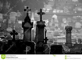 graveyard clipart black and white misty cemetery black and white stock image image 3275521