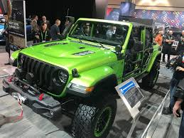 green jeep rubicon mopar modified four door 2018 jeep wrangler rubicon at the 2017 la