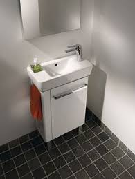 Compact Vanities Britton Bathrooms Narrow Wall Hung Cloakroom Vanity Unit White