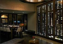 modern american upscale restaurant and wine bar interior design of