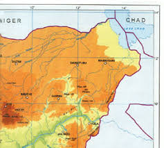 nigeria physical map physical map of nigeria onlinenigeria