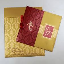 indian wedding cards w 1126 with shimmery finish paper