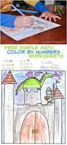 free color by number math worksheet my mommy style