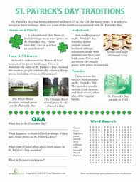 st s day traditions worksheet education