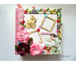 baby girl photo album sparkling baby girl handmade album buy handmade cards online